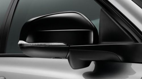 Rear View Mirror Casings, Glossy Black Finish, Black Stone, S80 2007 Onwards